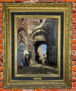 Henry A. Ferguson (1842-1911) Original Oil on Canvas Cairo Cityscape