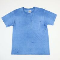 Destroyed Fruit of the Loom Blank T-Shirt S/M Faded Distressed Worn Thin Grunge