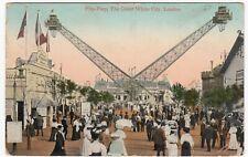 Franco British Exhibition, 1908, Flip Flap PPC, To Mrs Wheatcroft, Gorton