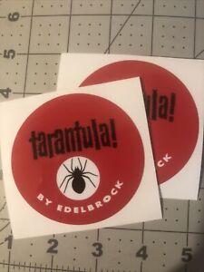 """Edelbrock Tarantula Repro Hot Rod Rat Rod Decals 3"""" Set 2"""
