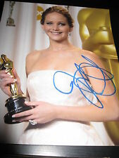 JENNIFER LAWRENCE SIGNED AUTOGRAPH 8x10 PHOTO HUNGER GAMES CATCHING FIRE AUTO X2