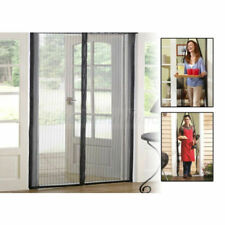 Magic Mesh Door Curtain Magnetic Snap Fly Bug Insect Mosquito Screen Net Guard