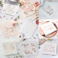 LUXURY ROSE GOLD NAPKINS -Wedding/Hen Night/Birthday Party/Baby Shower/Christmas