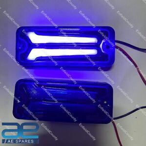 For Suzuki Samurai SJ410 413 Front & Rear Indicators LED Light Blue Set 12V ECs