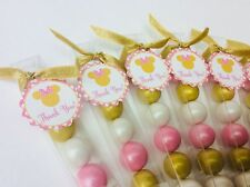 Minnie Mouse Baby Girl Shower Birthday Pink and Gold Party Favor Gumball Candy