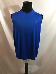 Under Armour Heat Gear royal blue sleeveless shirt - mens XL loose fit