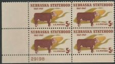 Scott# 1328 - 1967 Commemoratives - 5 cents Nebraska Statehood Plate Block (B)