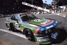 9x6 Photograph  Quester / Krebs / Peltier  Schnitzer BMW 3.5 CSL , Le Mans  1976