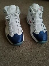 new style d736e b9352 Color  White. or Best Offer. Watch · REEBOK QUESTION MID ALLEN IVERSON WHITE  NAVY BLUE RED 9