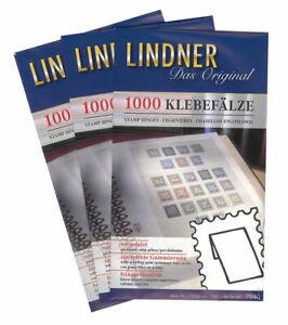 10x 1000 LINDNER 7040 Klebefälze Klebefalze vorgefalzt säurefrei gummiert