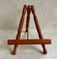 Antique/Vintage Wooden Tabletop Easel,Brass Chain/Nailhead Detail,Nautical Look