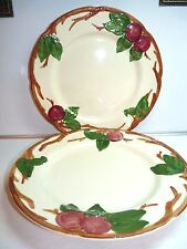 Franciscan China USA APPLE Pattern Pair Dinner Plates 10 1/2""
