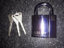 Abloy 340 hardened padlock with 3,keys