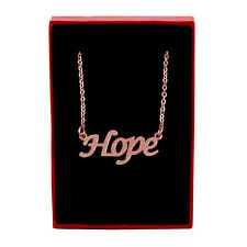 HOPE Name Necklace Stainless Steel / 18ct Rose Gold Plated | Pendant Custom Made