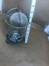 """Industrial EXPLOSION PROOF LIGHT, CAGE, & HEAVY CLEAR GLASS GLOBE 8"""" tall"""