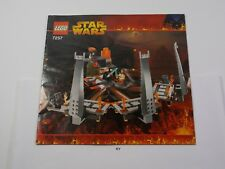 7257 Star Wars Ultimate Lightsaber Duel Lego Instruction Manual Only #E11-3