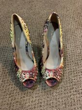 Aldo Womens Heels With  Flower And Studs 7