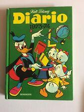 Diario Walt Disney 1973-74 Bello Topolino Paperino Cartonato