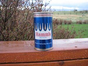 HAMM'S New Aluminum Top Advertising Flat Top Beer Can