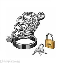 New Locking Asylum 4 Layer Male Chastity Belt Device Quality Free Padlock 008