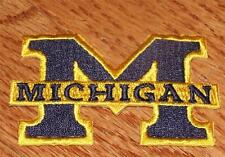 """NEW University of Michigan UM Polo Sized Embroidered Iron-On Patch 2.75"""""""