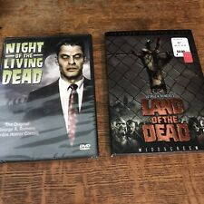 2 SEALED George Romero DVD - Night of the Living Dead & Land of the Dead horror