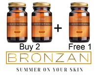BUY 2 + FREE 1--SUNLESS TANNING  x120 PILLS --( BIG OFFER ) -SELF TAN ---BRONZAN
