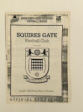 Squires Gate V Holker O.B Bass North West Comtés ligue de football AUGUST 1992