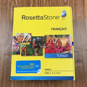 Rosetta Stone Totale Version 4 French Level 1-5 Mac/PC NEW in Box