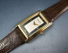 Authentic Gucci Heavy Gold Plated 2600M Quartz Mens Watch Excellent Condition
