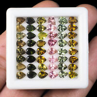 VVS 48 Pcs Natural Tourmaline 5mm/4mm Pear Cut Finest Quality Wholesale Gems Lot