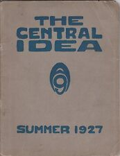 CENTRAL HIGH SCHOOL(L.A.)CENTRAL IDEA SUMMER 1927 YEARBOOK-JOHN ARMINGTON OWNER