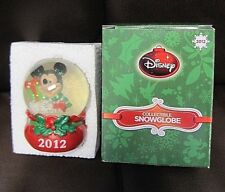2012 JC Penney Disney Mickey Mouse Snow Globe Christmas - Manufacturing Mistake