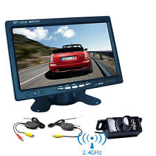 "7"" TFT-LCD Monitor Car Rear View System Backup Reverse Camera Night Vision Kit"