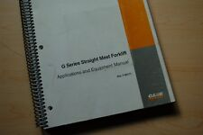 CASE G SERIES FORKLIFT Owner Application Equipment Feature Manual Shop Guide