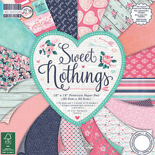 First Edition 12x12 papel-Sweet nothings-Cardmaking Scrapbooking Pack Completo