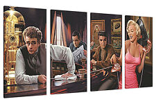 MARILYN MONROE ELVIS AND JAMES DEAN EXTRA LARGE CANVAS PRINTS WALL ART 4 PIECE