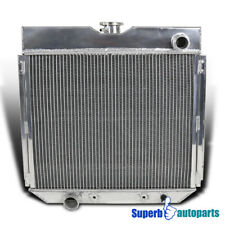 For Driver/Left Side Aluminum Radiator 1967-1969 Mustang V8 3-Row Core MT 20''