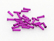 25 Bike Bicycle Anodized Brake Cable Ends Caps Crimps 25 pack Purple-Pink