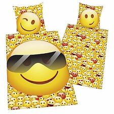 EMOJI SUNGLASSES SINGLE DUVET COVER SET OFFICIAL NEW KIDS TEENAGERS BEDDING