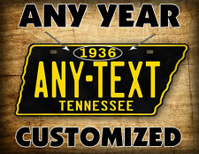 Antique Tennessee License Plate BLACK & GOLD Vintage REPLICA TN Auto Tag ~CUSTOM