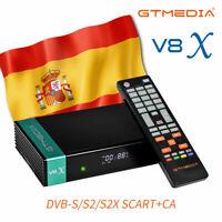 GTMEDIA V8X-Receptor de satélite Full HD, H.265/HEVC, DVB-S/S2,Tarjeta Lector CA