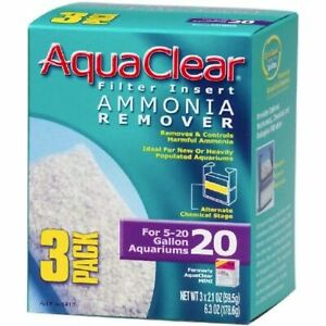 Aquaclear Ammonia Remover Filter Insert Size 20 - 3 count