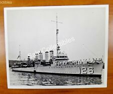 Uss Badger Dd-126 Destroyer Ship Official Navy Photograph 8x10 1939