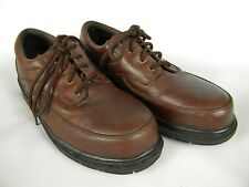 HUSH PUPPIES Professional 9 D Oxfords Casual Brown Pebble Grain Leather  727183