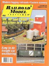 Railroad Model Craftsman June 1999 Arlee Valley Montana Boxcars BN GP38-2B Log