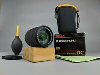 Sigma 18-200mm  f/3.5-6.3 DC Zoom Lens for CANON  -BOXED + Accessories!