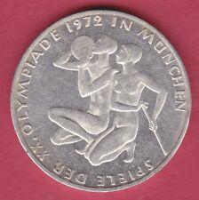 R* GERMANY GFR 10 MARK SILVER 1972 J OLYMPIC GAMES XF+ DETAILS #A020