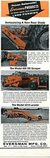 1970 Print Ad of Eversman Mfg 600SD Scraper 4012 Leveler & Tractor Rear Blade