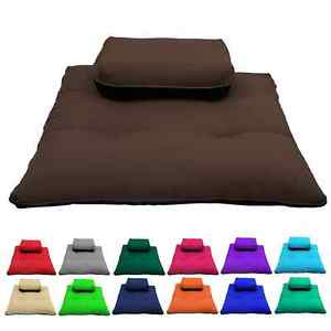 Meditation Zafu & Zabuton Set Cushions Training Exercise Yoga Mats- 2 Sizes